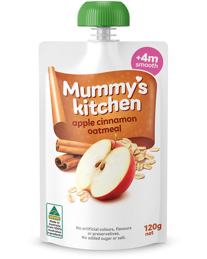 Mummy's Kitchen Apple Cinnamon Oatmeal